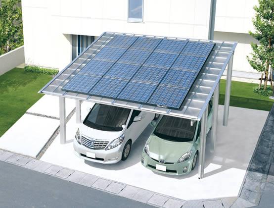 太陽光発電システム 上乗せタイプ カーポート