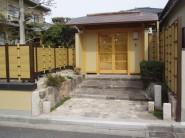 数奇屋門と御簾垣の本格和風庭園 |岩国市 外構 エクステリア