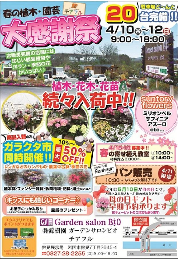 春の植木・園芸大感謝祭開催中